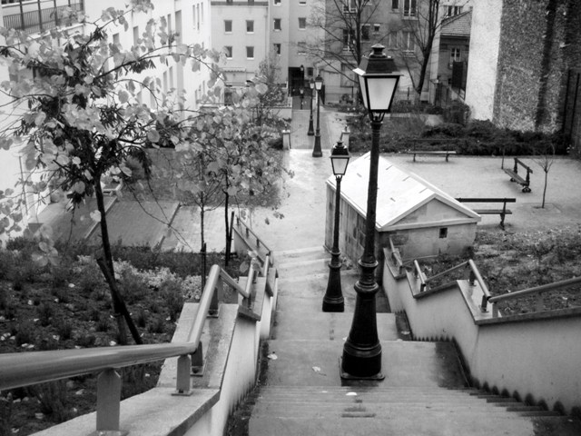 Escaliers de la rue des Cascades
