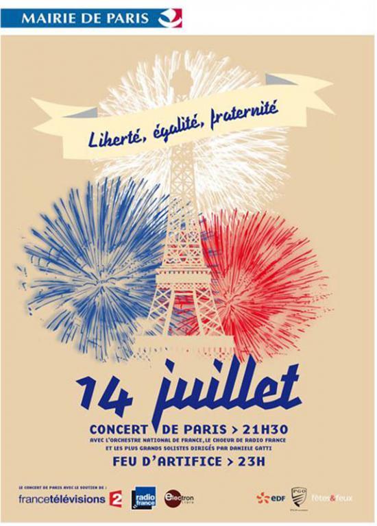 14-juillet Concert de Paris et Feu d'Artifice