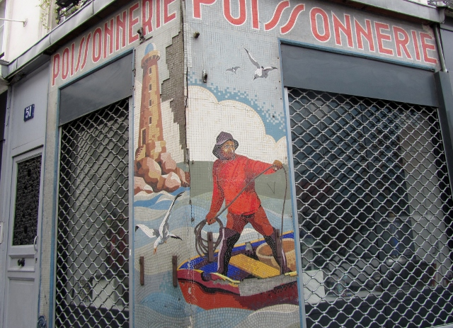 Ancienne poissonnerie rue Ramey / Rue du Baigneur