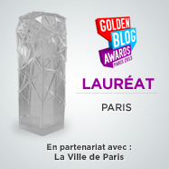 Golden Blog Awards 2013 du meilleur blog sur Paris