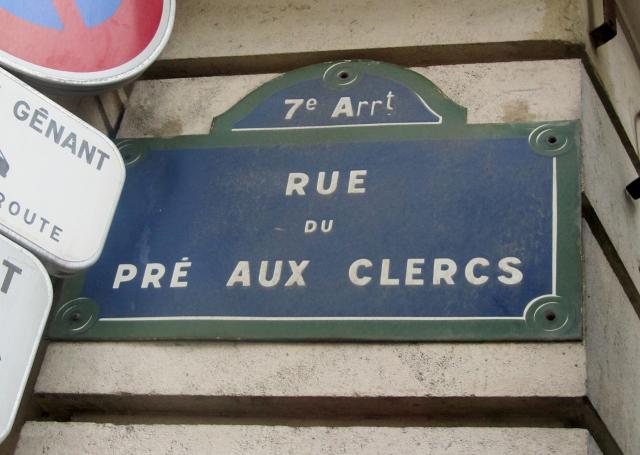 Rue du Pré aux Clercs