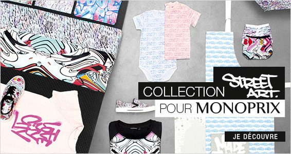 Collection Street Art pour Monoprix
