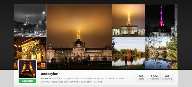 Compte Instagram andosyion